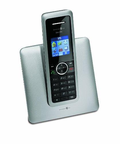 Deutsche Telekom T-Home Telefon Sinus 302 Schnurlostelefon mit Anruferkennung silber/schwarz