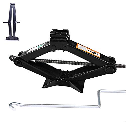 DICN Car Scissor Jack Lift Leveling with Crank Handle Roadside Emergency for Honda Civic/Accord/CR-V/Element/Odyssey/Pilot, 2-Ton Max. 360mm Work Height