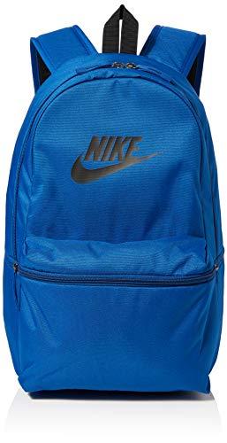 Nike Nk Heritage Bkpk, Unisex Adults' Backpack, Multicolour (Gym Blue/Black Black), 15x24x45 cm (W x H L)