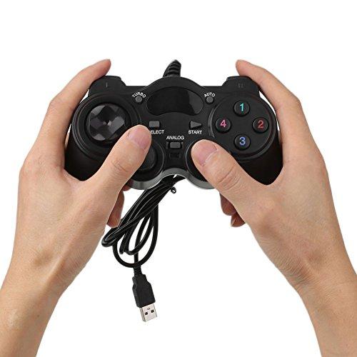Cewaal Gamepad con joypad joystick cablato Per PC Laptop Computer