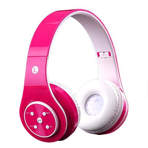 prasku Auriculares Bluetooth para niños ST6 estéreo Plegable telescópico Radio FM - Rosa