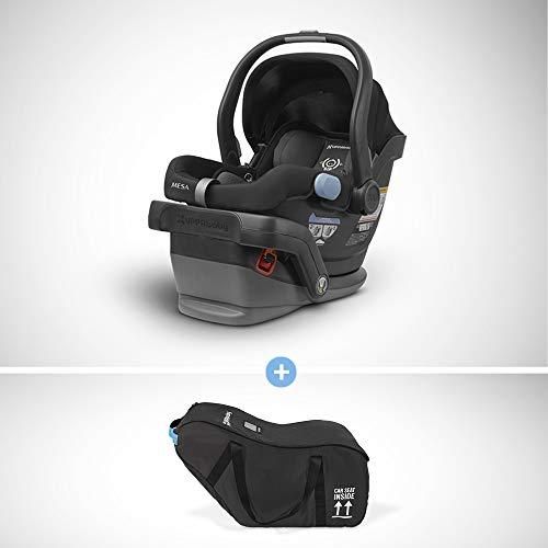 Best Price UPPAbaby MESA Infant Car Seat – Jake (Black) + Travel Bag for MESA