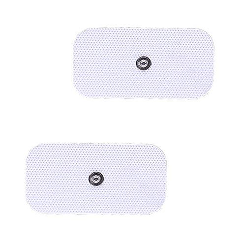 Electrodo Grande Tens EMS Electroterapia Pads Caucho Reutilizables - Electrodo Tonificación Muscular Adelgazar, Self Adhesive Electrodes Masaje Gel Conductor Adhesivos Gelificados (3.5mm)