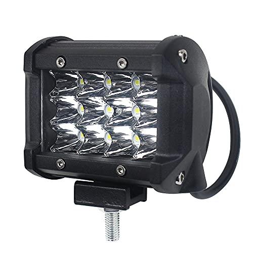 36W 4LED Bar Billtillbehör Arbetslampa Off Väg Motorcykel Truck Driving Lights Auto Accessorie Ledbar 4x4 Offroad 24V 12V (Color : 1 pc)
