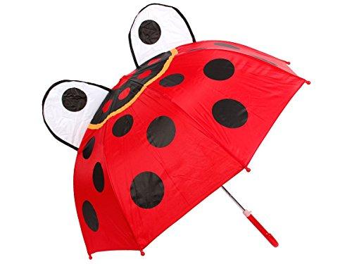 Alsino Parapluie pour Enfant Fille ou garçon Enveloppant et Rigolo, drôle et Mignon, Se balader sous la Pluie C'est Aussi Un Jeu d'enfant, Choisir:61/1960 Coccinelle