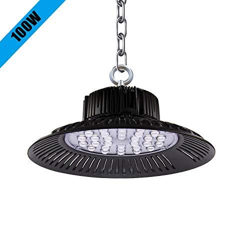 100W LED UFO Industrielampe 6000K LED Strahler UFO Led Werkstattlampe,10000LM Led Industrielampe LED Strahler Industrieleuchte für Garage Werkstätten und Fabrikhallen. (1*pack, 100W)