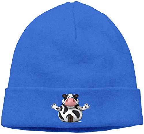 BHGYT Vraagteken Koe Unisex Winter Knitting Wool Warm Hüte Daily Slouchy Hütes Beanie Skull Hut