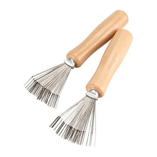 2er Pack Haarbürsten Reiniger | Bürstenreiniger | Hair Brush Cleaner | zum Entfernen von Haaren aus Haarbürsten und Kämmen | für eine gründliche Reinigung | perfekt für unterwegs (1)