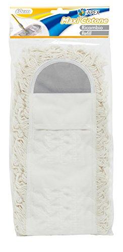 Apex Recharge pour Maxi Floor Duster, 60 cm, Coton, Blanc, 30 x 60 x 30 cm