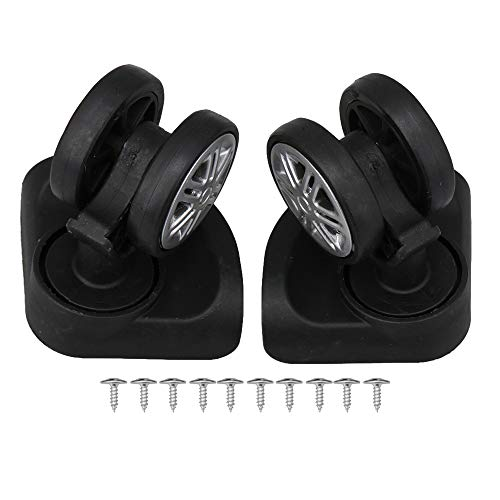 Luggage Suitcase Replacement Wheels Light Weight W317# Black Pack of 2