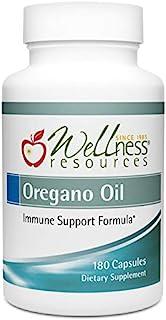 Oregano Oil Capsules - High Potency Wild Oregano Oil 55-65% Carvacrol, 100mg per Capsule (180 Capsules)