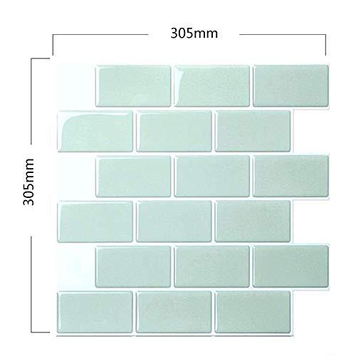 PoeHXtyy Peel and Stick selbstklebende entfernbare Stick auf Küche Backsplash Badezimmer 3D Wallpaper Fliesen in der U-Bahn