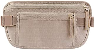BeigeTravel Money Belt for Men Women Antitheft Passport Holder Concealed Under Clothes Stash Pouch