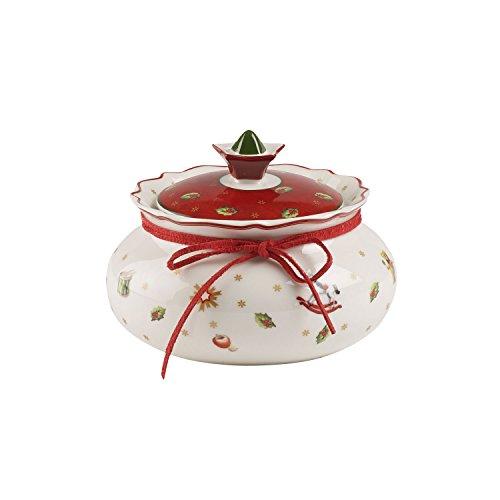 Villeroy & Boch Toy's Delight Kleine Vorratsdose, Premium Porzellan, Weiß/Rot
