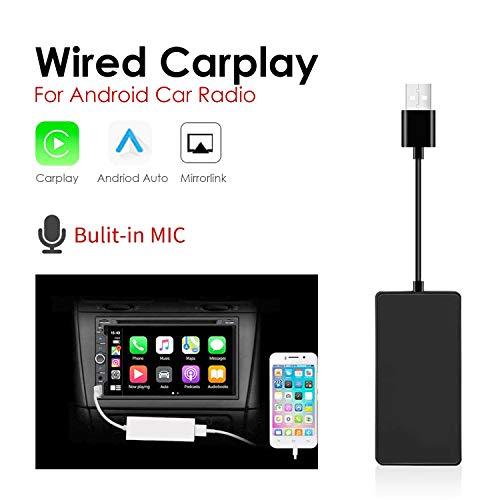 USB Car Play Dongle Auto, Spiegelung, Mini Smartphone Link Empfänger Adapter Auto Navigation Multimedia Player für Smartphone (Weiß)