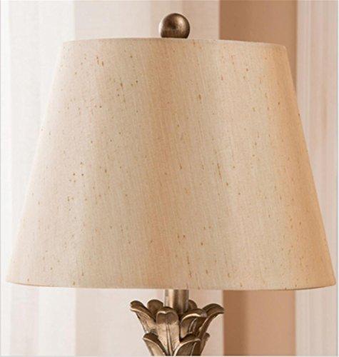 Vintage pineapple-shaped table lamp fabric resin Bedside, Bedroom, Bathroom, Hallway, Kitchen Desk lamp Desk Light