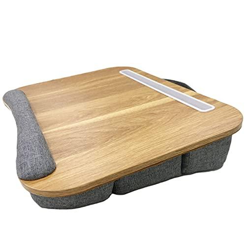 CCXX Bandeja de regazo para portátil con ranura multifunción y almohadilla de muñeca, soporte para computadora y cama y sofá, bandeja para cama para portátil de hasta 14 pulgadas
