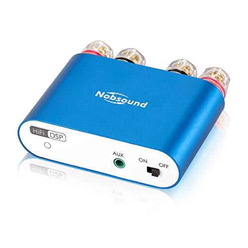 Nobsound mini Amplificador digital NS-10G PRO Hi-Fi DSP 100 W (50 W x 2), Bluetooth 5.0, 2.0 canales, estéreo, para altavoces domésticos (con fuente de alimentación)