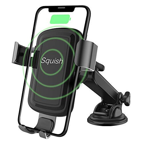 Squish Qi Wireless Car Charger Mount 10W 7.5W, Fast Charging Wireless Charger...