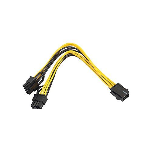Grafikkarten-Stromadapter,Colorful PCI Express Stromversorgung, PCI-E 6-polig weiblich auf 2X 6+2-polig Stecker