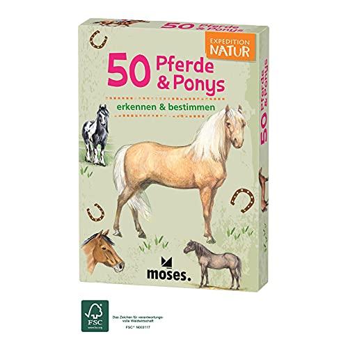 moses. 9744 Expedition Natur 50 Pferde und Ponys| Bestimmungskarten im Set | Mit spannenden Quizfragen