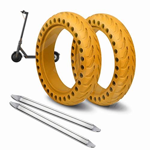 ANSENI Ruedas Macizas Roja para Patinete Electrico Rueda de 8.5 Pulgadas, Neumáticos de Reemplazo, Rueda de Repuesto Antipinchazo Compatible con Xiaomi Scooter Electrico M365/M365 Pro (Amarill
