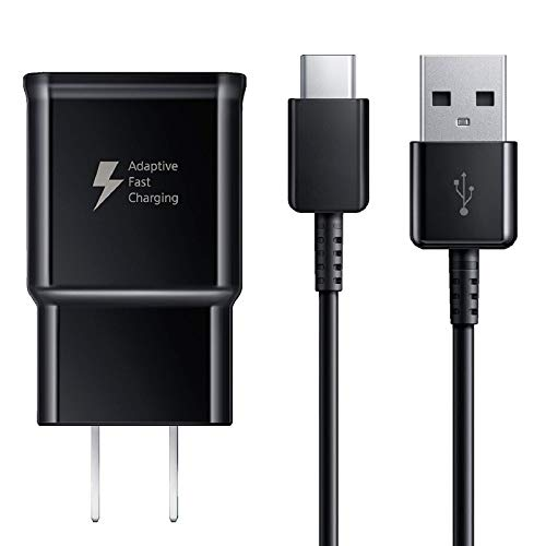 Adaptive Fast Charger Compatible Samsung Galaxy S9 S9 Plus S8 S8+ S10 S10e Note 8 Note 9 Note 10, Wall Charger Adapter Block with USB Type C Cable Kit