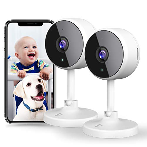 [New2021] WiFi Camera 2Pcs Littlelf Indoor Cameras for Home Security, 1080P...