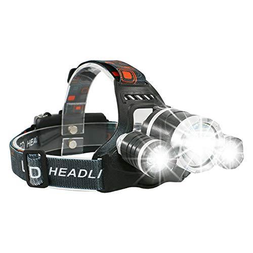 zhenxin Linternas Frontales Led Led Headlamp Headlight 3000 Lumens T6 Hiking Head Light USB Rechargeable Waterproof Head Lamp