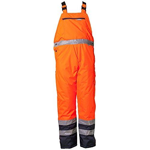 Planam Winter-Latzhose 'Warnschutz' Größe M in orange/marine, 2086048
