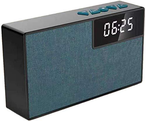 HAOHAO Wake Altavoz inalámbrico Bluetooth, LED portátil de Relojes 360 Manos Libres Altavoz Surround Inteligente teléfono Sencillo PM subwoofer Negro,Azul