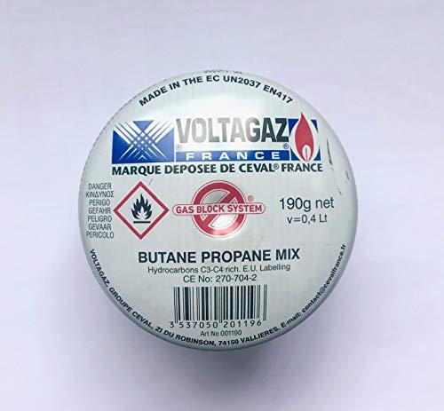 CEVAL France - Cartucho de gas 190 g para soplete y hornillos