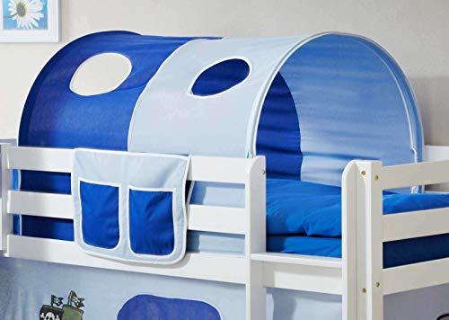 Avanti Trendstore - Konrad - Tunnel und Tasche für Hochbett für Kinder, Baumwollstoff mit verschiedenen Motiven. Maße: BHT 90x76x100 cm