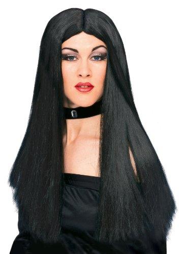 Rubies Officielle Halloween Sorcière Perruque Noir Taille Unique Adulte