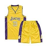 Bambini Ragazzi Ragazze Uomini Nba Lebron James # 23 Los Angeles Lakers Maglie da basket retrò Costumi estivi Kit uniformi da basket Top + Pantaloncini 1 Set