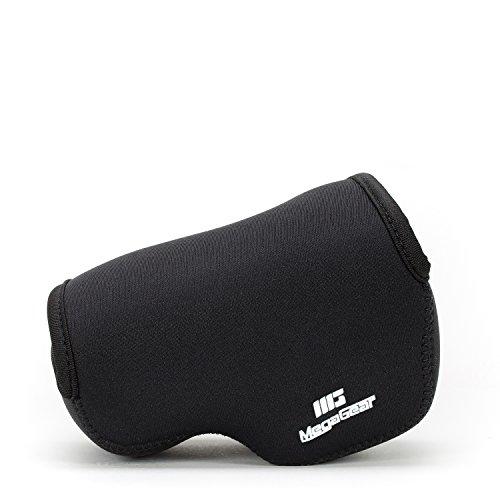 MegaGear ''Ultra Ligero'' Estuche de Camara de Neopreno, bolso – Cubierta Protectora sin Espejos para Canon PowerShot G1 X Mark II – con Mosquetón para Llevar Fácilmente (Negro)