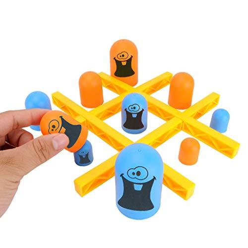 Detrade Geschicklichkeitsaufbau Pädagogisches Spielzeug Indoor Gobblet Gobblers Brettspiel Spielzeug Strategiespiel für Kinder (White)