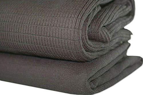 Tissu en Lycra Elastique Côtes Tricotées, Larges Mailles Tissu Résistant Durable Côtes Tricotées pour Vêtements ou Autres Utilisations Fonctionnelles où un Tissu Durable & Elastique est requis.