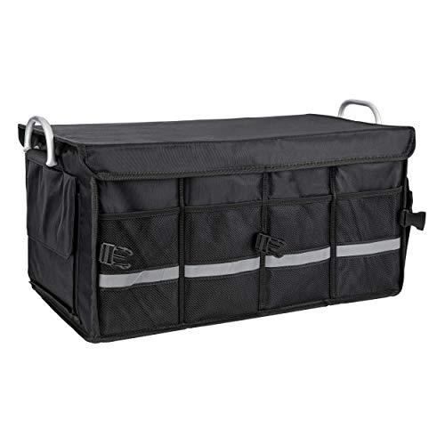 ONVAYA Bolsa de Maletero Negro | Organizador de Coche con Capacidad de 55 litros Aprox. | Bolsa de Coche | Maletero con Bolsillos