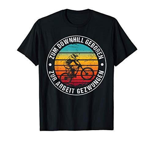 Downhill Bike Mountain Outfit Geschenk MTB Sprüche T-Shirt