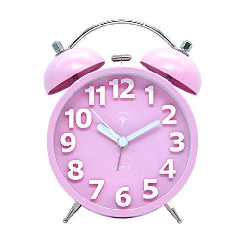 Alarm Clock huis Slaapkamer Nachtlampjes Silent tafelklok Student Dorm Room Desktop Time Clock huiskamer 3D Geluidsinstallatie Aantal Decoration Klok Stil Ontwerp
