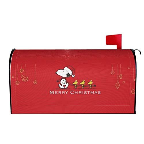 WOMFUI Snoopy Terasse Briefkastenabdeckung Weihnachten Briefkastenabdeckung Wasserdicht Dekorative Briefkastenabdeckung für Garten Hof | 64,8 x 53,3 cm