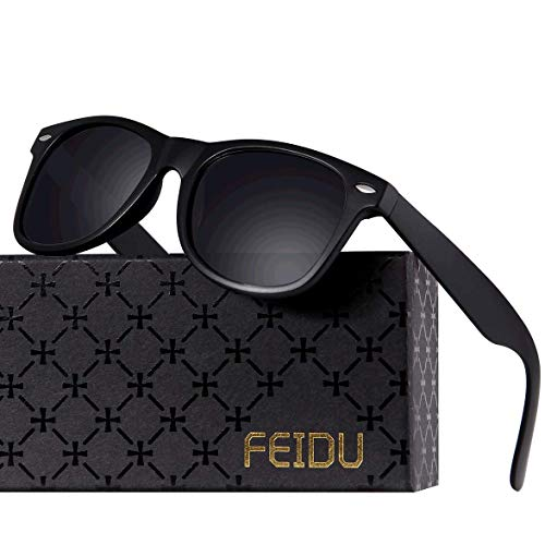 Polarized Sunglasses for Men Retro - FEIDU Polarized Retro Sunglasses for Men FD2149 (black-matte)