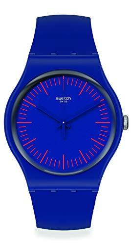 Swatch orologio BLUENRED 41mm Originals New Gent SUON146