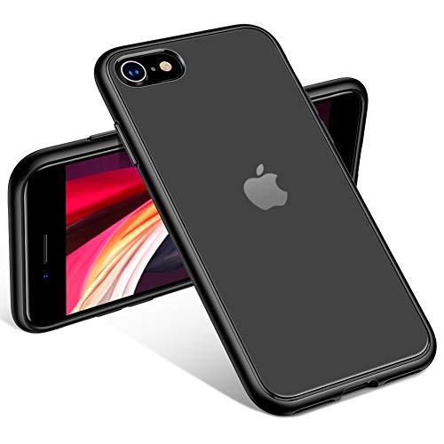 CAFELE iPhone SE 2020 Funda, iPhone SE 2ª generación iPhone 8/7 funda totalmente protectora rígida mate a prueba de golpes, carcasa para iPhone 7/8/SE, negro