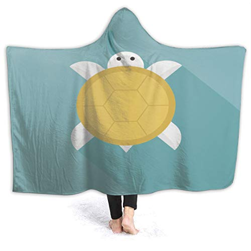 aosup Golden Chinese New Year Turtle Meaning Long Hoodie Blanket Wearable Throw Blankets for Couch Blanket Hooded for Baby Kids Men Women Style56702,60x50inch