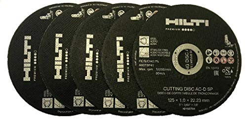 5 x Trennscheibe HILTI AC-D SP 125 INOX 1.0 mm Universal Premium Flexscheibe Hilti | 2150704