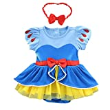 MYRISAM Christmas Costumes for Baby Toddler Girls Snow White Princess Birthday Bodysuit Romper Tutu Dress w/Headband 3-6M