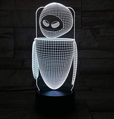 QiXian Night Light Wall Lamp Led Lamp Robot Eva Table Lamp Bedroom Eve Decoration Cartoon RGB Touch Sensor Children Kids Gadget Gift Wall e Night Light Led USB Decor for Kitchen Bedroom Living Room