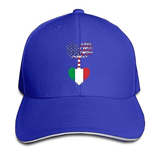 AOHOT Classic Hombre Mujer Gorras de béisbol,Unisex American Grown Italian Root Baseball Cap Adjustable Peaked Sandwich Cap